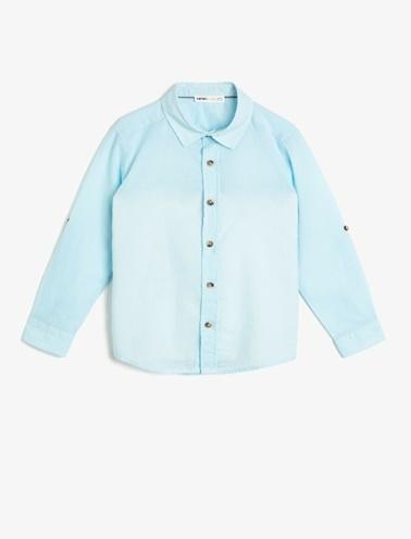 Koton Kids Klasik Yaka Gömlek Mavi